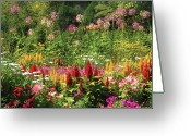 Cheery Greeting Cards - Flower - Wild Flowers  Greeting Card by Mike Savad