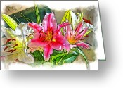 Socal Greeting Cards - Flower Arrangement Greeting Card by Chuck Staley