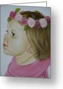 Girls Greeting Cards - Flower Child Greeting Card by Joni McPherson
