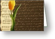 Abstract Art Pyrography Greeting Cards - Flower for you Greeting Card by Irena Orlov