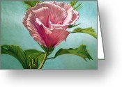 Flower. Petals Pastels Greeting Cards - Flower In The Sky Greeting Card by Melissa Tobia