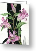 Elena Yakubovich Painting Greeting Cards - Flower Lily 01 Elena Yakubovich Greeting Card by Elena Yakubovich