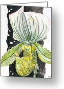 Fine American Art Greeting Cards - Flower ORCHID 09 Elena Yakubovich Greeting Card by Elena Yakubovich