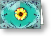 Robert Matson Greeting Cards - Flower Pot Greeting Card by Robert Matson