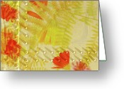 Botanical Greeting Cards Prints Greeting Cards - Flower Shower II Greeting Card by Bonnie Bruno