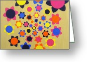 Chic Greeting Cards - Flower Shower Greeting Card by Oliver Johnston