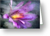 Exotic Flora Greeting Cards - Flower Spirit Greeting Card by Svetlana Sewell