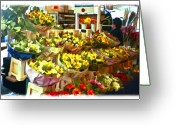 Vendor Greeting Cards - Flower Stand Greeting Card by Patricia Stalter