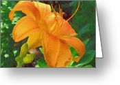 Kevin Sherf Greeting Cards - Flower with a New Dress Greeting Card by Kevin  Sherf