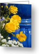 Flowers Flowers And Flowers Greeting Cards - Flowers 187 Greeting Card by Joyce StJames