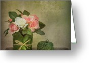 Painterly Greeting Cards - Flowers and A Ball of String Greeting Card by Ian Barber