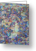 Abstract Art Greeting Cards - Flowers Greeting Card by Andrey Soldatenko