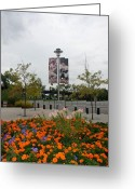 Ball Parks Greeting Cards - Flowers At Citi Field Greeting Card by Rob Hans