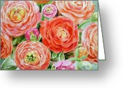 Birthday Card Greeting Cards - Flowers Flowers Flowers Greeting Card by Irina Sztukowski