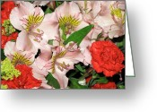 Corsage Greeting Cards - Flowers Greeting Card by Frank Romeo