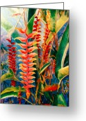Reproducciones Tropicales Greeting Cards - Flowers In My Garden Greeting Card by Estela Robles