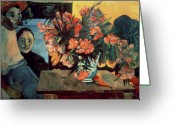 Gauguin; Paul (1848-1903) Greeting Cards - Flowers of France Greeting Card by Paul Gauguin