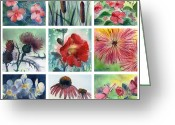 Impatiens Flowers Greeting Cards - Flowers of Summer Greeting Card by MaryAnn Cleary