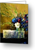 Music Notes Greeting Cards - Flowers on a Piano Greeting Card by Patrick Raffaelo