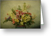 Indiana Flowers Greeting Cards - Flowers Greeting Card by Sandy Keeton