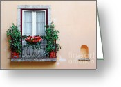 Housing Greeting Cards - Flowery Balcony Greeting Card by Carlos Caetano