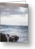 Extended Exposure Greeting Cards - Flowing Rock Greeting Card by Joseph Deats