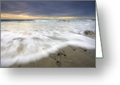San Diego California Greeting Cards - Flowing Stones Greeting Card by Mike  Dawson