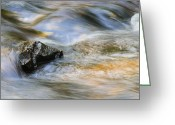 Reflected Greeting Cards - Flowing Water Greeting Card by Adam Romanowicz