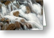 Brown Digital Art Greeting Cards - Flowing Waters Greeting Card by Dale Kincaid