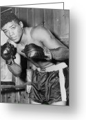 Glove Greeting Cards - Floyd Patterson (1935-2006) Greeting Card by Granger