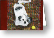 Debbie Brown Greeting Cards - Fluffy the Fluffmeister Greeting Card by Debbie Brown