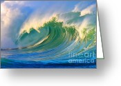 Surf Art Greeting Cards - Fluid Combustion Greeting Card by Paul Topp