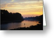 Image Type Photo Greeting Cards - Fly Fishermen On The Miramichi River Greeting Card by Paul Nicklen