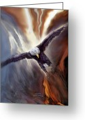Bird Of Prey Mixed Media Greeting Cards - Fly Free Greeting Card by Carol Cavalaris