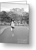 Walk Way Photo Greeting Cards - Fly To The Freedom  Greeting Card by Setsiri Silapasuwanchai
