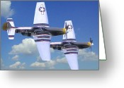 Airplanes Digital Art Greeting Cards - Flyby Two Greeting Card by Garry Staranchuk