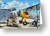 Usn Greeting Cards - Flyers In The Heartland Greeting Card by Charles Taylor