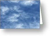 Public Transportation Greeting Cards - Flying Away Greeting Card by Richard Newstead