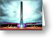 Licht Greeting Cards - Flying Fuelstation - Lightning Edt. Greeting Card by Thomas Splietker