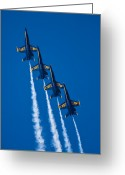 Jet Greeting Cards - Flying High Greeting Card by Adam Romanowicz