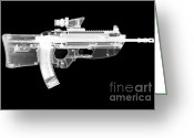 Firearms Photo Greeting Cards - Fn Fs2000 Greeting Card by Ray Gunz
