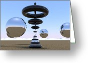 Balls Digital Art Greeting Cards - Focus Your Mind Greeting Card by Andre Deherrera