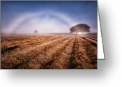 Tin Greeting Cards - Fog bow Greeting Card by John Farnan