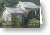 Most Photographed Photo Greeting Cards - Foggy Day at the Mill Greeting Card by Shannon Slaydon
