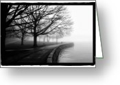 Stanley Pyrography Greeting Cards - Foggy Day H-1 Greeting Card by Mauro Celotti