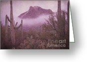 Hill Photographs Greeting Cards - Foggy hill Greeting Card by Jim Wright