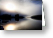 Galloway Greeting Cards - Foggy Sunrise-Galloway Greeting Card by Evan Spellman
