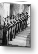 Hand On Hip Greeting Cards - Folies Chorus Greeting Card by Sasha