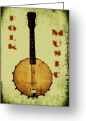 Banjo Greeting Cards - Folk Music Greeting Card by Bill Cannon