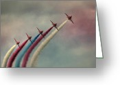 Raf Photo Greeting Cards - Follow The Leader Greeting Card by Phil Clements